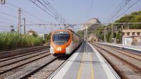 EMU approaching Garraf Station