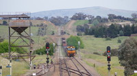 NR76 leading steel through Yass Junction
