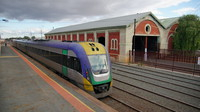 V/Locity departing Echuca Station