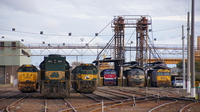 Complete array of locos at the fuel point