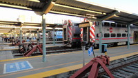 Passenger cars at Caltrain Station