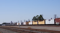 Stored freight cars at Fresno