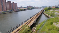 Freight rail viaduct near the Bronx