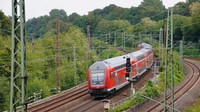 Loco hauled departing Bochum