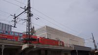 DB approaching Friedrichstrasse Station